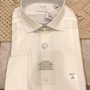 Men's Slim-Fit Performance Dress Shirt